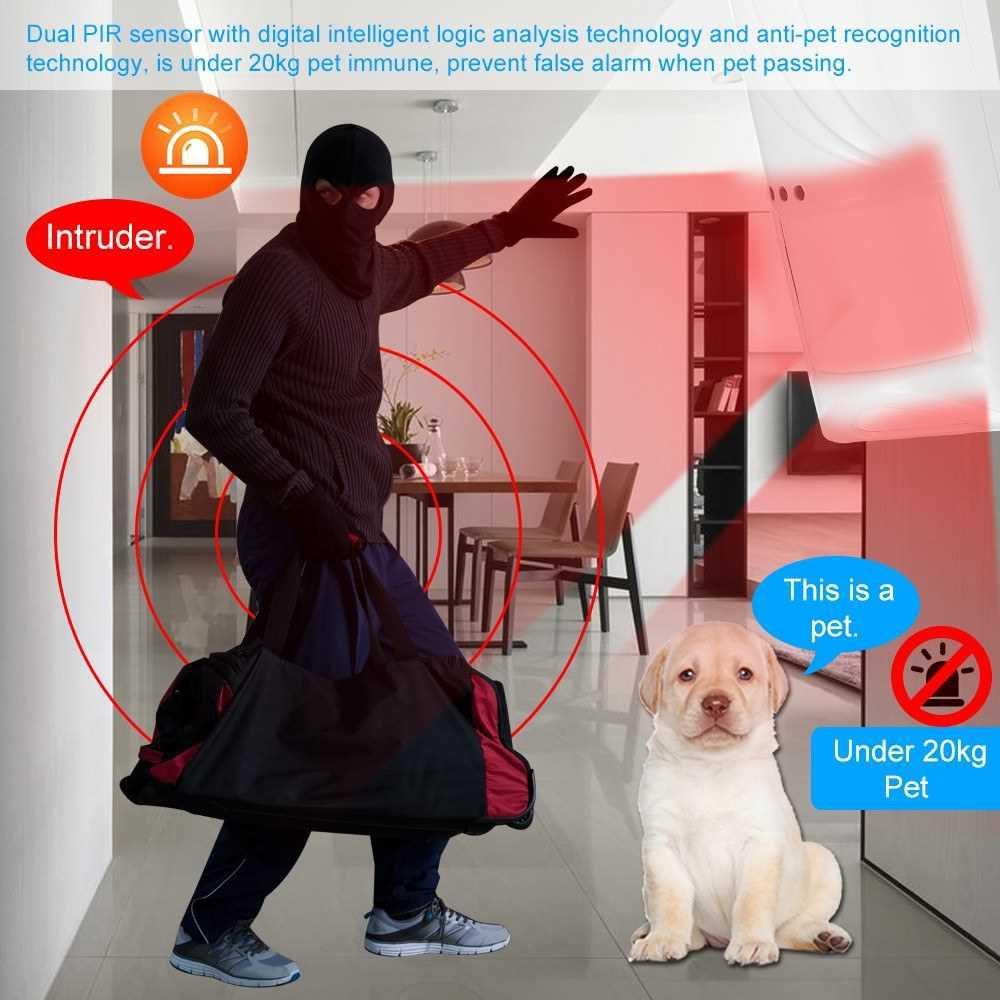 Pet Immune Wired PIR Motion Sensor Passive Infrared Detector Double PIR Infrared Detector Dual PIR Sensor For Home Burg