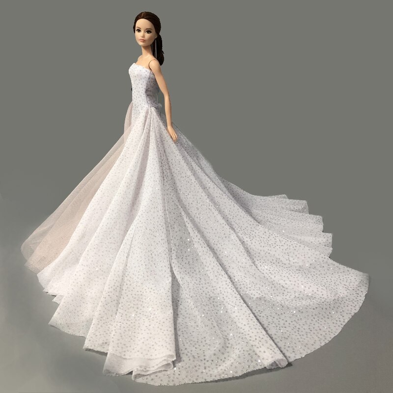 Coral Doll Dress For 1//6 Doll Clothes Outfits High Quality Gown Wedding Dresses