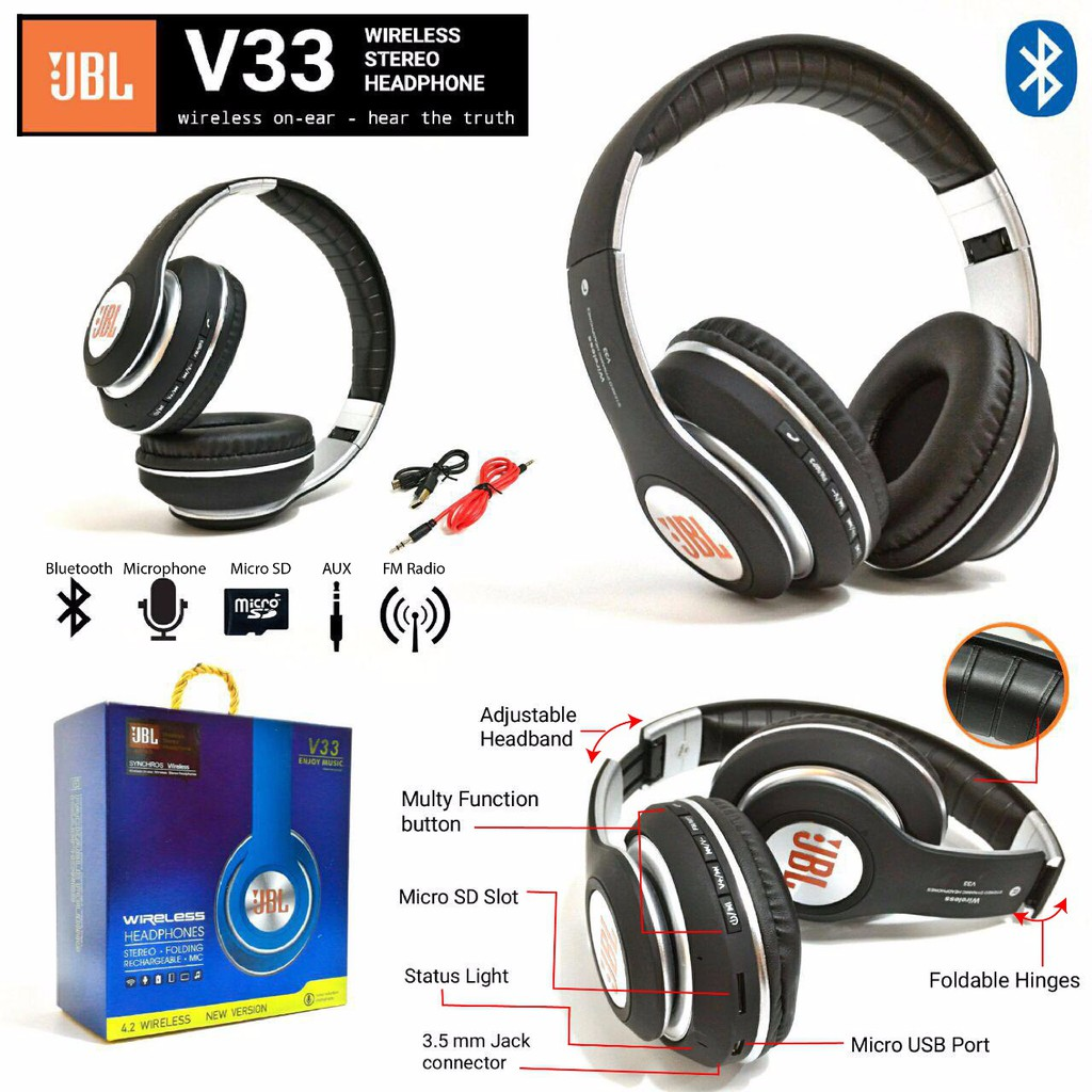 Headphone New Jbl Harman Blutooth E55bt Shopee Malaysia Headset Wireless Stereo S990 Design