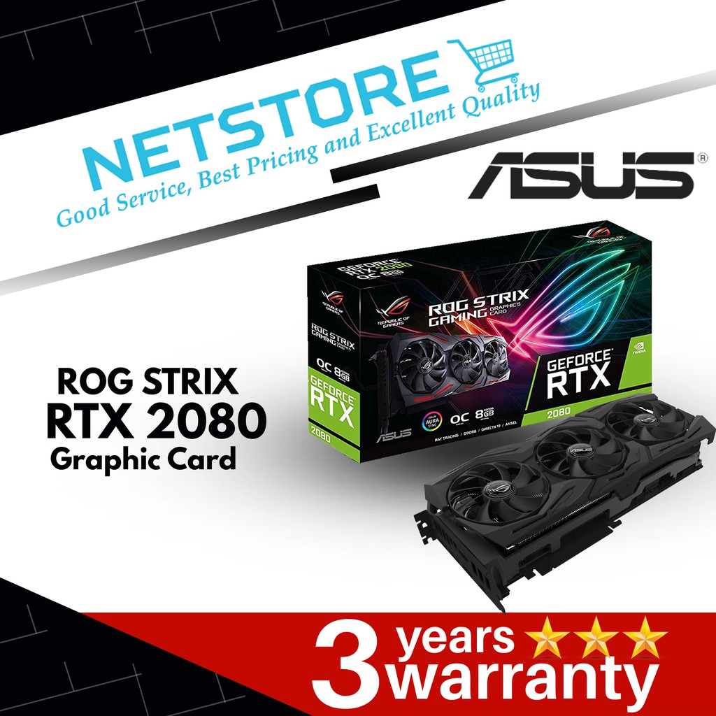 ASUS GEFORCE RTX 2080 O8G ROG STRIX OC Edition  (ROG-STRIX-RTX2080-O8G-GAMING)
