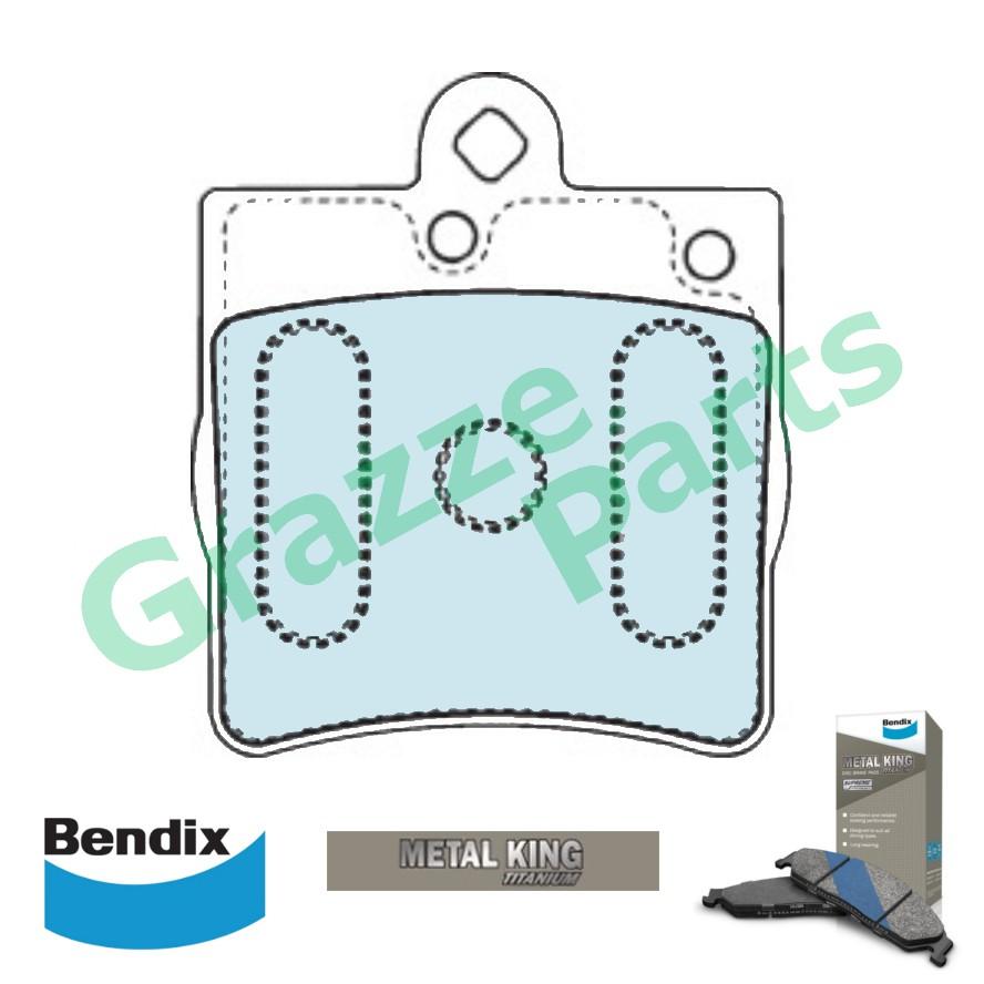 Bendix Metal King Titanium Disc Brake Pad Rear DB1428 Mercedes Benz C202 C203 C208 C209 R170 S202 S210 W202 W203 W210