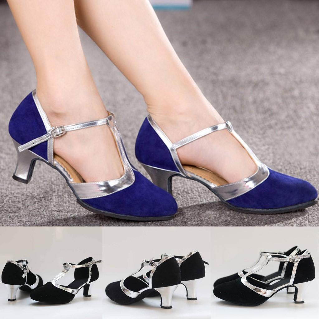5904288bb8e8b Women's Ballroom Tango Latin Salsa Dancing Shoes Sequins Shoes Social Dance  Shoe