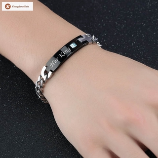 94e16942ad2 ‴Fashion His Queen Her King Couple Bracelet Matching Bangles Lovers Jewelry  Gift   Shopee Malaysia