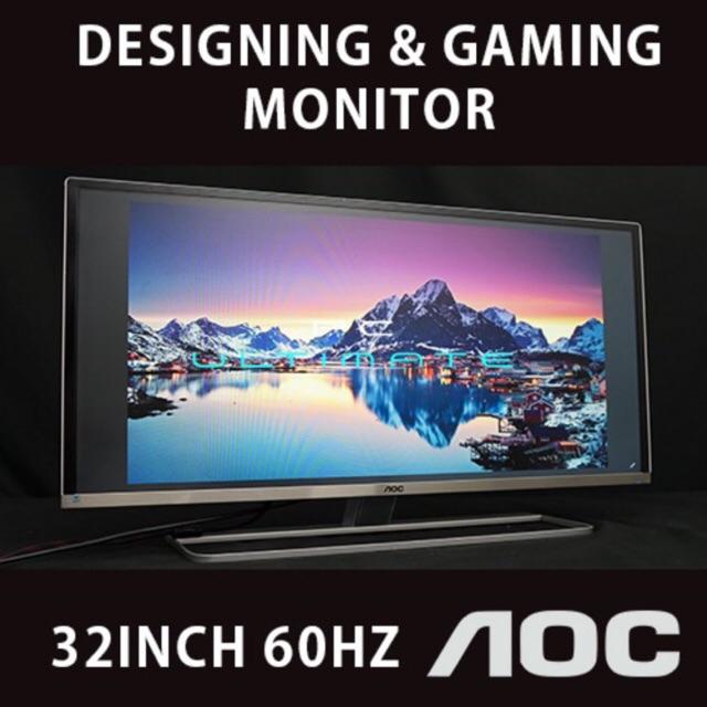 AOC 32 Inch IPS LED Monitor 60Hz Full HD 1080P (Used Unit) / Ultra Slim  Design