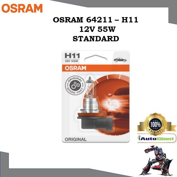 OSRAM 64211 - H11 12V 55W LAMPU DEPAN KERETA