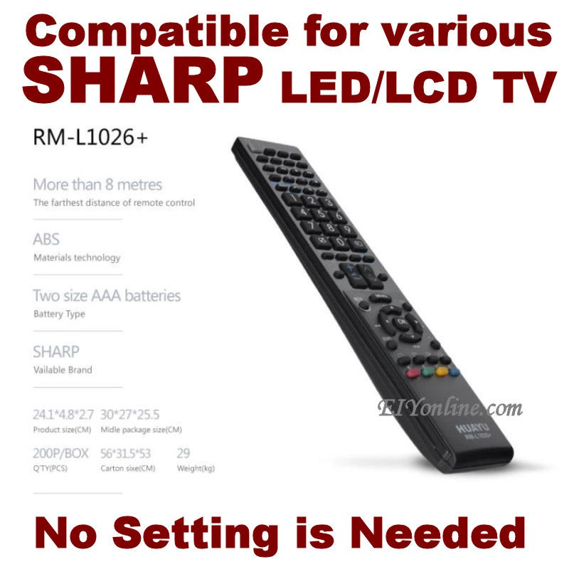 Huayu RM-L1026 LCD LED TV Remote Control for Sharp _3106026