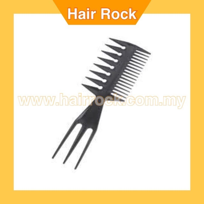 Salon Barbers Comb 3 in 1 Fish Tail Bone Shape Comb for Slicked (AFRO)