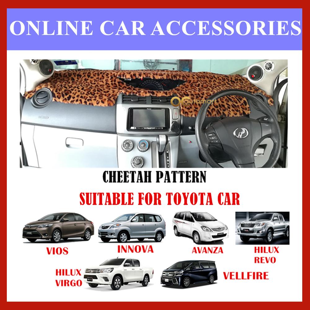 Customized Dashboard Cover Fur / Bulu For Honda Nissan Toyota Isuzu - Cheetah Pattern