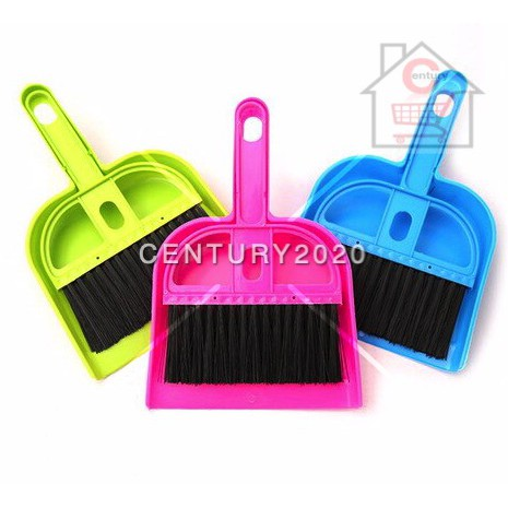Plastic Desktop Sweep Cleaning Brush Standard Size Computer Keyboard Small Broom Dustpan Set Random Colour