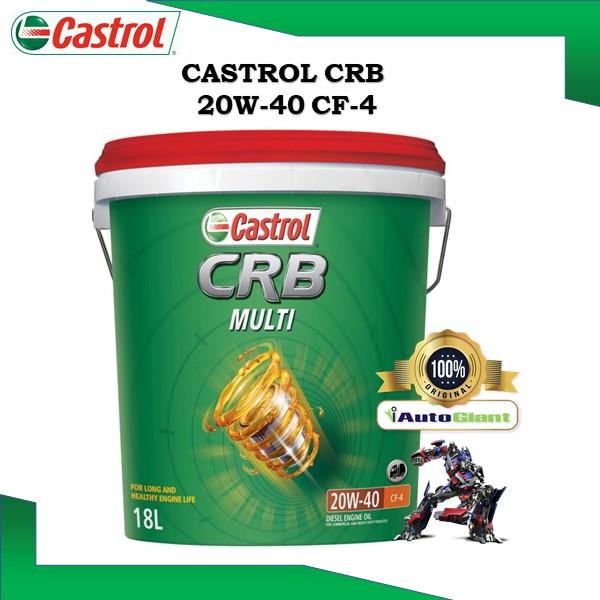 CASTROL CRB MULTI 20W40 CF4, 18L, PAIL DIESEL ENGINE OIL (100% ORIGINAL)