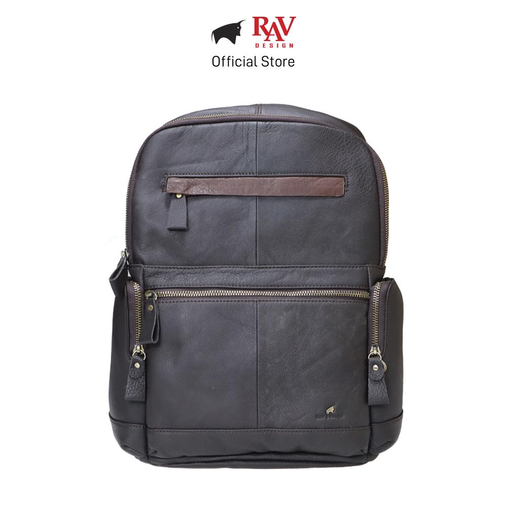 RAV DESIGN Men's Genuine Leather Backpack |RVC469G2