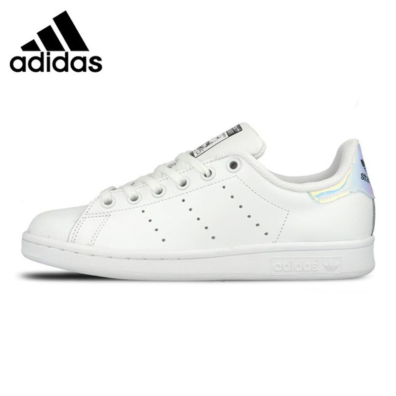 Adidas STAN SMITH Women's Walking Shoes, White & Sky Blue, L