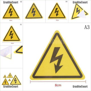 2PCS Danger High Voltage Electric Warning Safety Label Sign Decal StickeEF