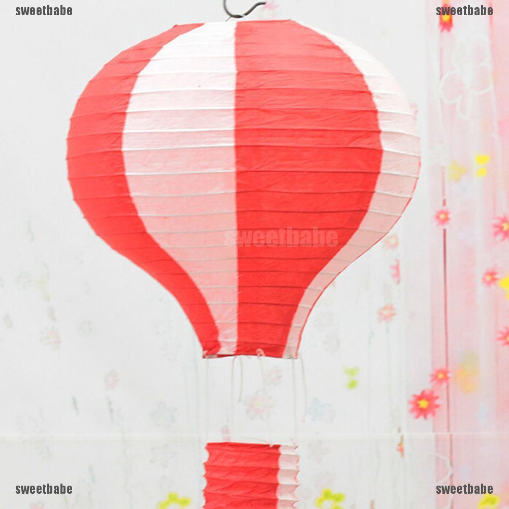 Hot Air Balloon Puzzle and Childrens Room Decor Painted in Rainbow Colors