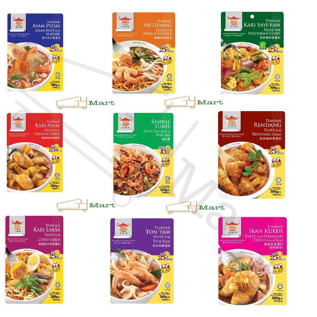 Tean's Gourmet Brand Paste 200G 田师傅牌酱料
