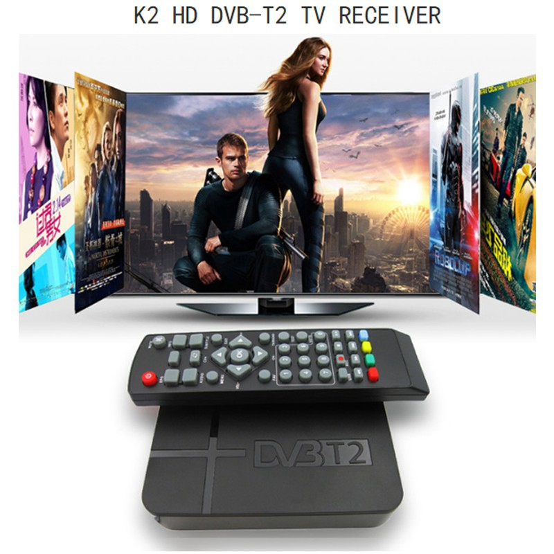K2 DVB-T/T2 Terrestrial Receiver H 264 MPEG-2/4 PVR Video TV Box Set Top  HDTV