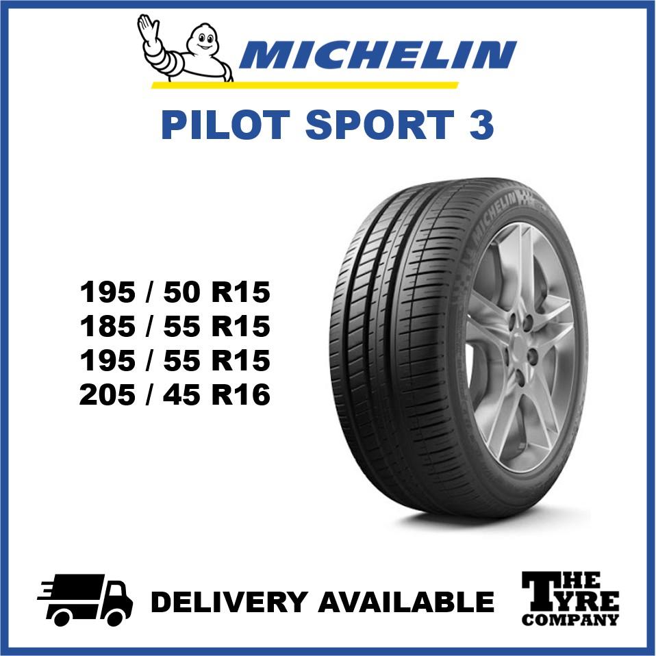 Michelin Pilot Sport 3 195 50 15 185 55 15 195 55 15 205 45 16 Tyre Tire Tayar Shopee Malaysia