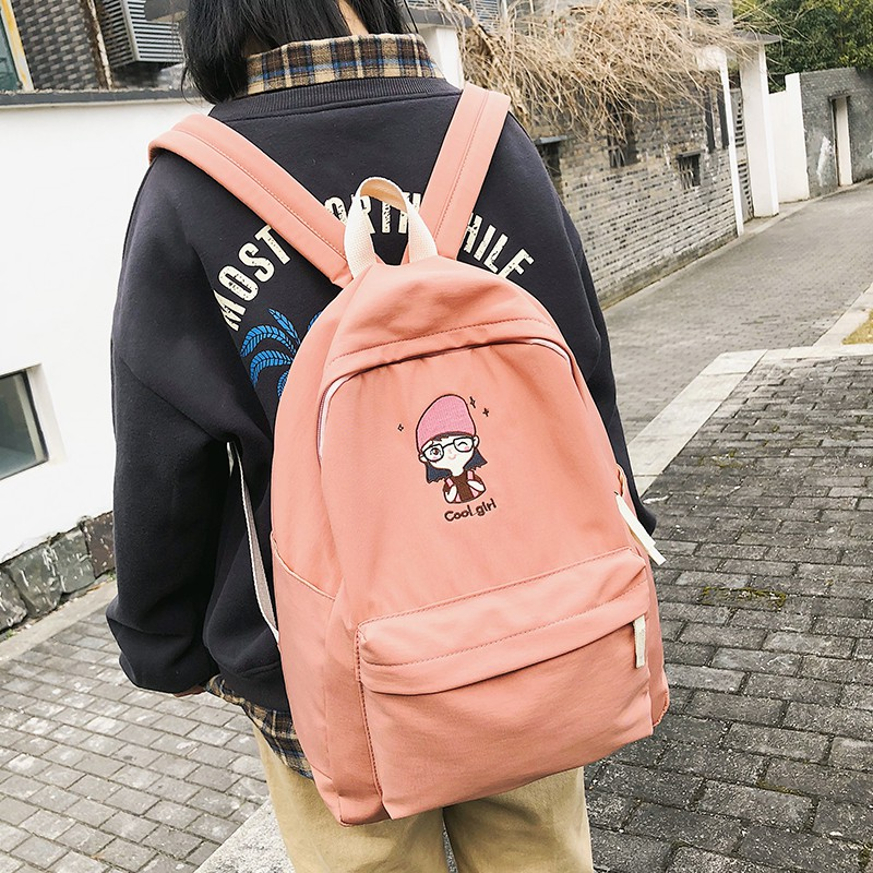 66bf7819fbac School bag female Korean version of high school students backpack tide  brand cam
