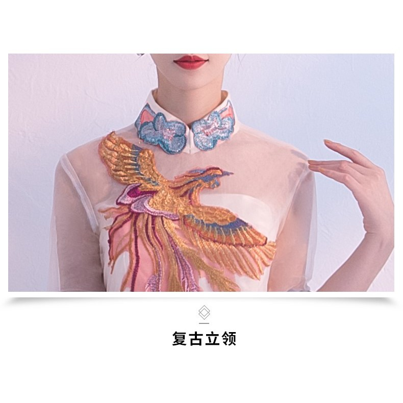 Cheongsam/Qipao/Evening Dress/Gown/Dinner/CNY/Short Midi/Elegant 新款短款旗袍连衣裙/晚礼服