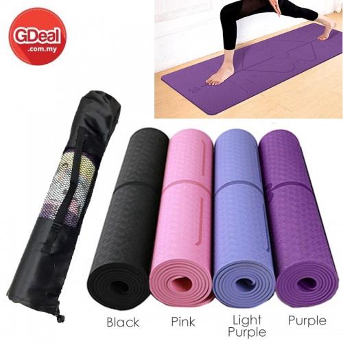 GDeal TPE Yoga Mat Carpet Mat For Beginner Environmental Fitness Gymnastics Mats Free Yoga Mat Bag