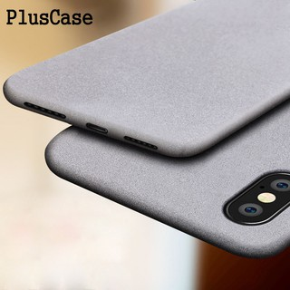 new arrival 93393 5f0e7 iPhone X 8 7 Plus 6 6s Ultra Thin Soft Matte Sandstone Case ...