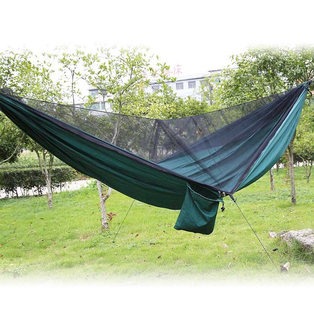 Hammock with Mosquito Net. 290 x 140cm. (Dark Green)
