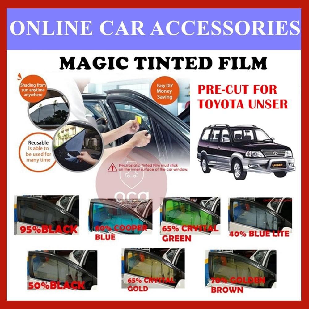 Toyota Unser  - Pre-Cut Shape Magic Tinted Solar Tinted (4 Windows & 2 Triangle /4 Windows+Rear)
