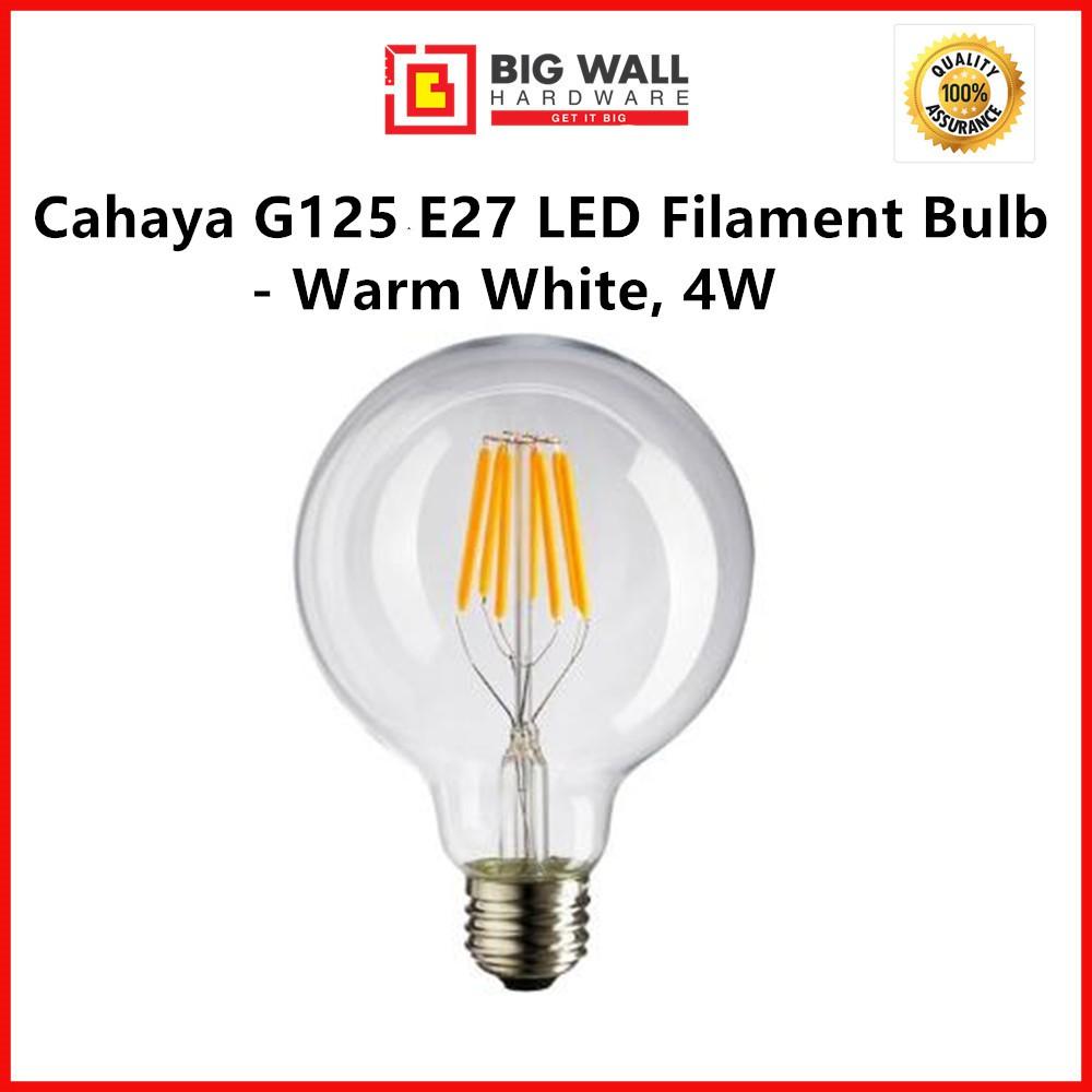 Perfect One Antique Edison Bulb G125 E27 LED Filament Bulb - Warm White, Clear Glass 4W/6W/8W