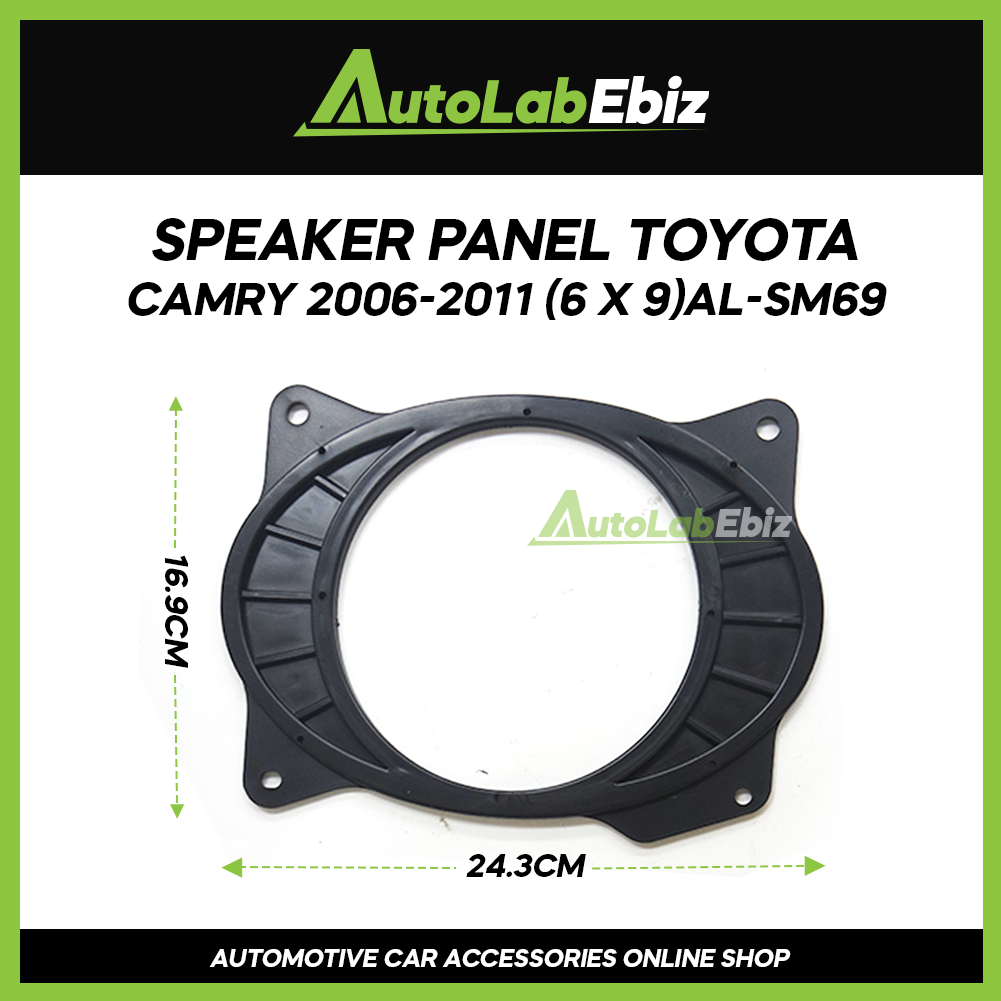 "Car Door Speaker Panel Cover Trim Car (2pcs) For Toyota Camry 2006-2011 (6"" x 9"")"