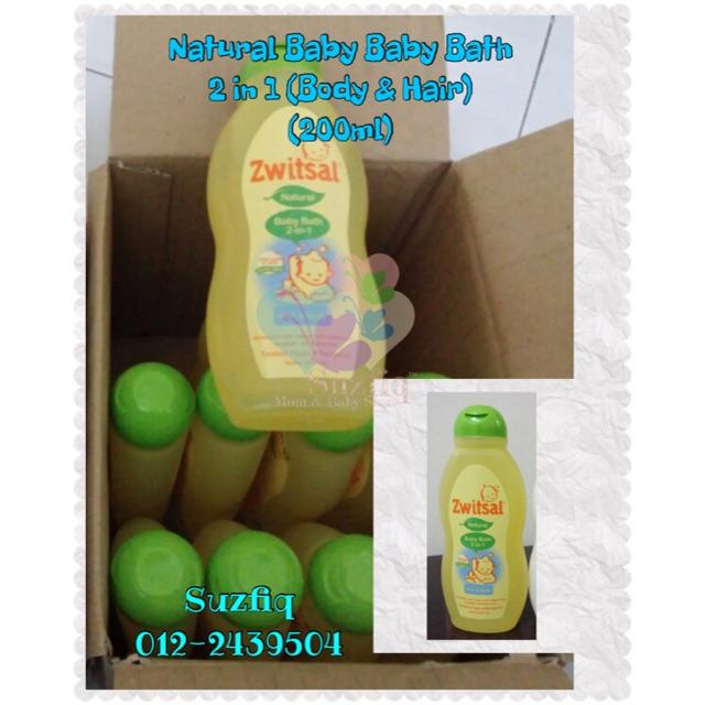 Zwitsal Natural Baby Bath - 2 in 1 ( Body & Hair) - 200ml | Shopee Malaysia