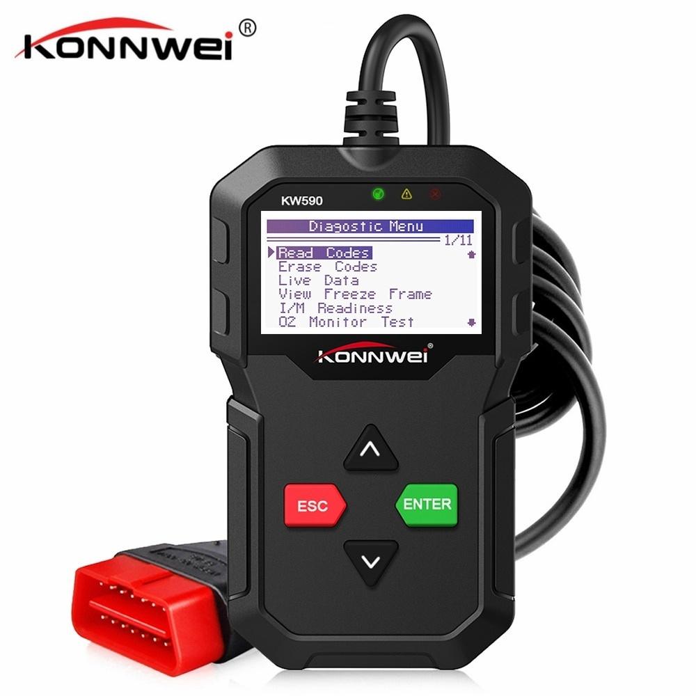 2019 OBD Diagnostic Tool KONNWEI KW590 Car Code Reader automotive OBD2  Scanner Support Multi-Brands Cars&languages