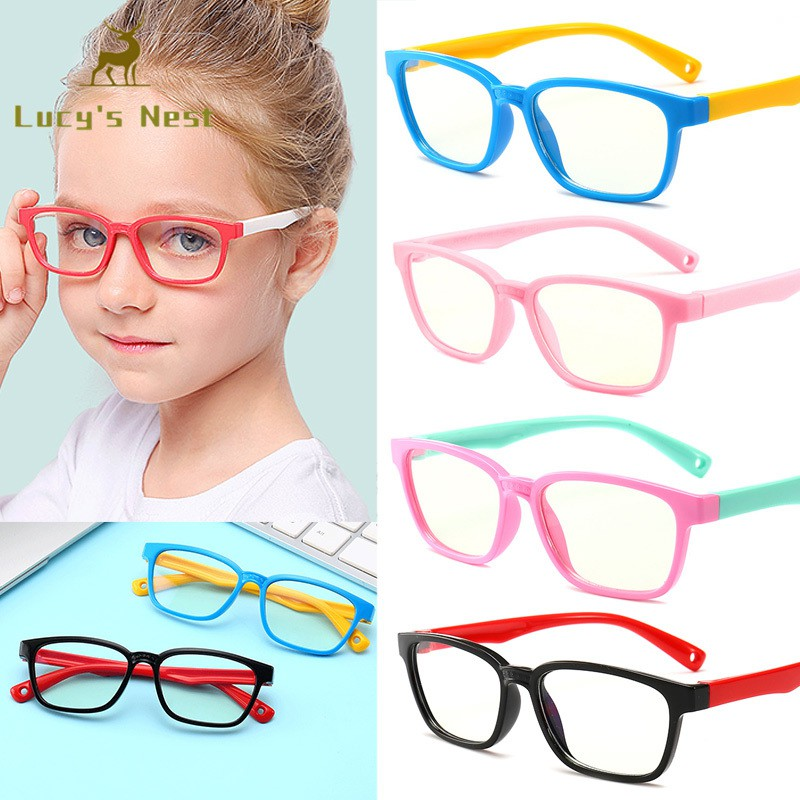 96379614f8ac Boys Girls Computer Goggles Flat Mirror Soft Silicone Frame Children Glasses  | Shopee Malaysia