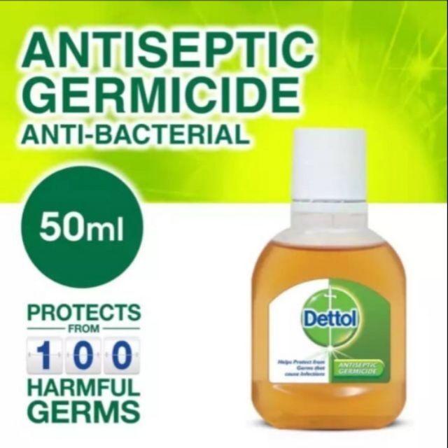 Dettol Antiseptic Germicide Anti-bacterial Liquid 50ml