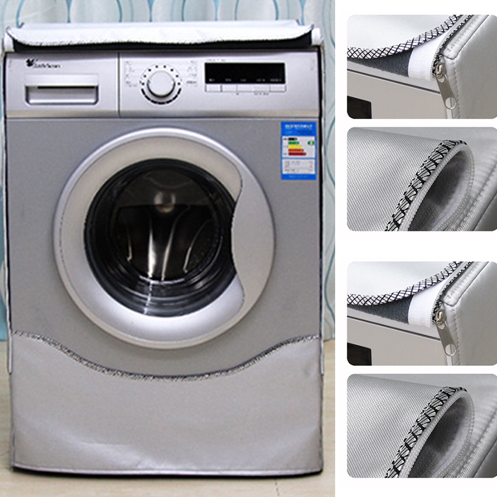 Waterproof Washing Machine Cover UV-protection Silver