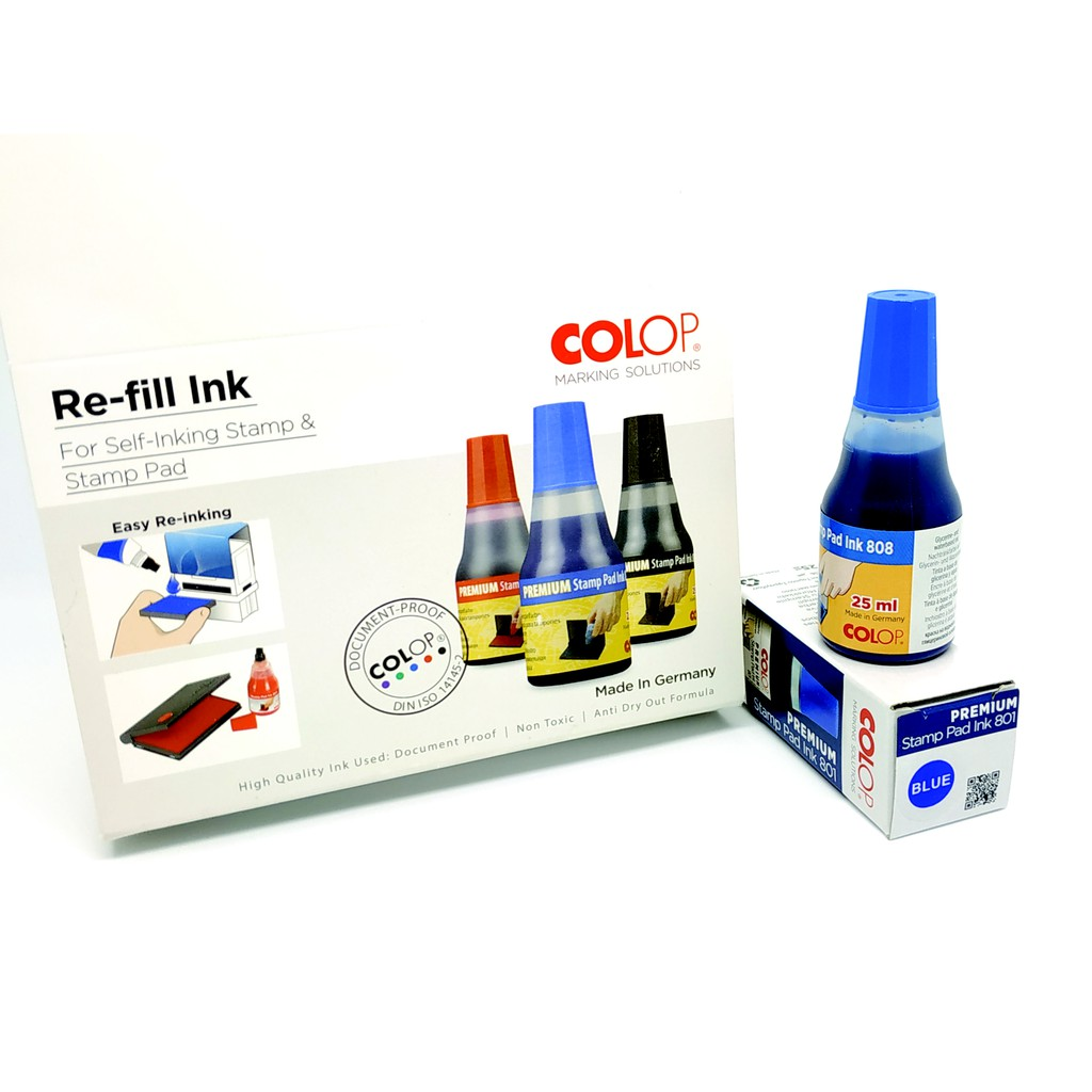 COLOP Stamp Pad Self Inking Refill Ink 25ML