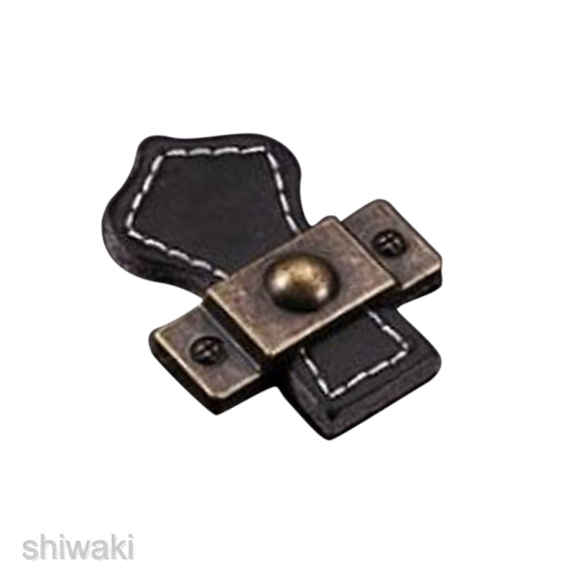 Leather Cabinet Handles Home Furniture Wardrobe Drawer Pull Knob #6 Brown