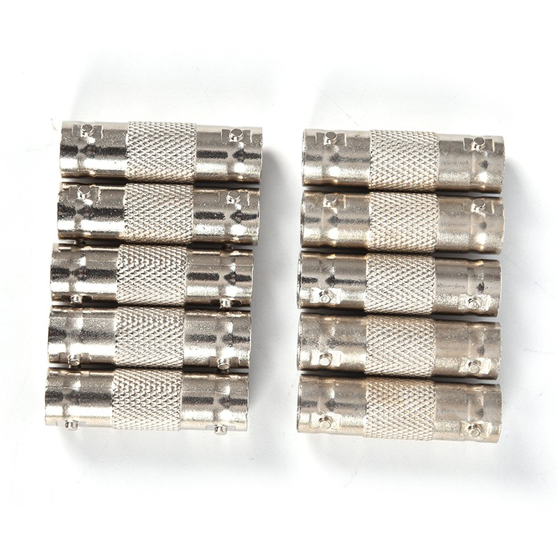 Fite ON 10pcs BNC To BNC Female Connector Couplers Adapter for CCTV Video Camera