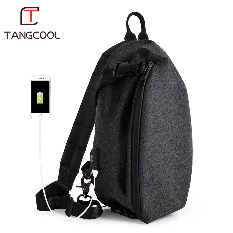 4e3ec7dcd8a0 Fashion Casual Men Messenger Bag Male USB Design Man Chest Bag Pack Anti  Theft Shoulder Crossbody bags Travel bag