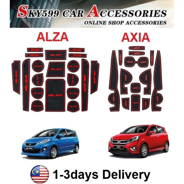 Perodua Axia & Alza Interior Slot Mat Storage Tank Mat