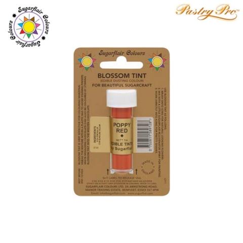 Sugarflair, Blossom Tint, Edible Dusting Powder, Poppy Red 7ml