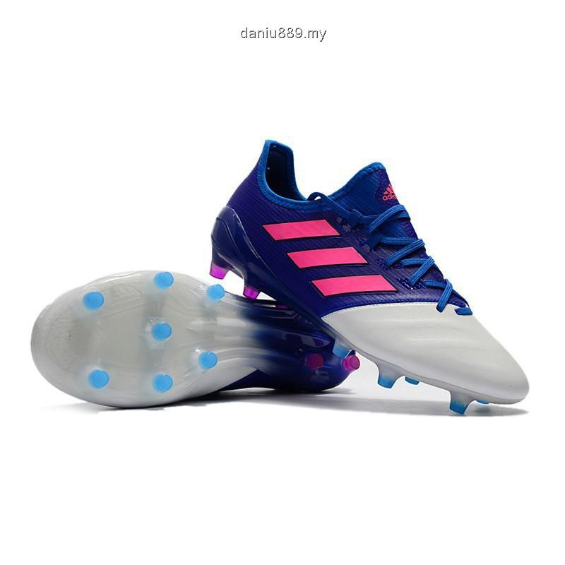 detailed pictures 1588a 1ede2 adidas ACE 17.1 Leather FG blue white lether mens low soccer football  shoes39-45