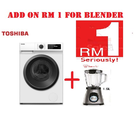 [PM FOR BEST PRICE] TW-BH85S2M  Toshiba Front Load Washing Machine 7.5Kg Real Inverter