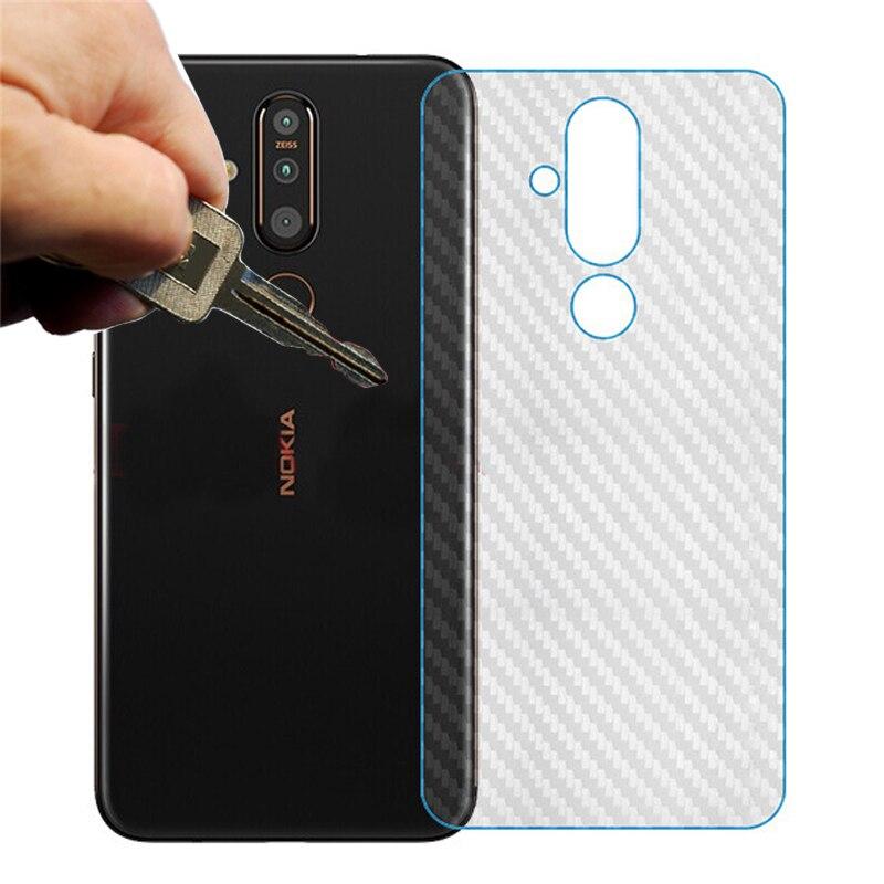 5pcs/lot Nokia X71 X6 6.1 Plus 7.1 8.1 4.2 3D Carbon Fiber Screen Protector Back Cover Soft Film Not Tempered Glass