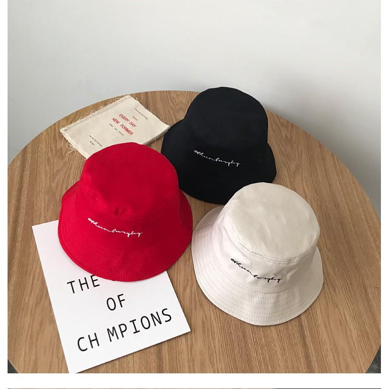 be0cc10e6 English embroidery fisherman hat street dance trend hat Japanese basin cap  custo
