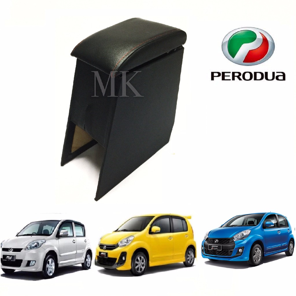 High Quality Perodua Myvi Armrest Console Box With Red