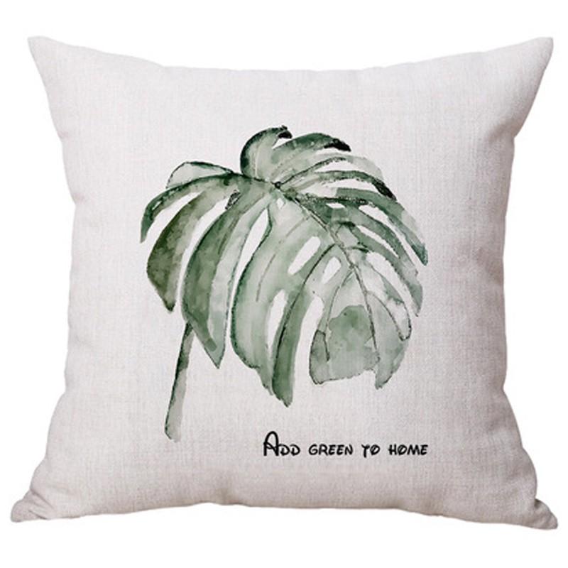 ropical plants 45x45cm line fabric cushion pillow