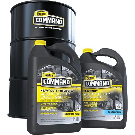 100 PRESTONE US CommandHeavy Duty Nitrite Free (Extended Life / Long Life Antifreeze / Coolant) PREMIX - 1 Gal / 3.78L