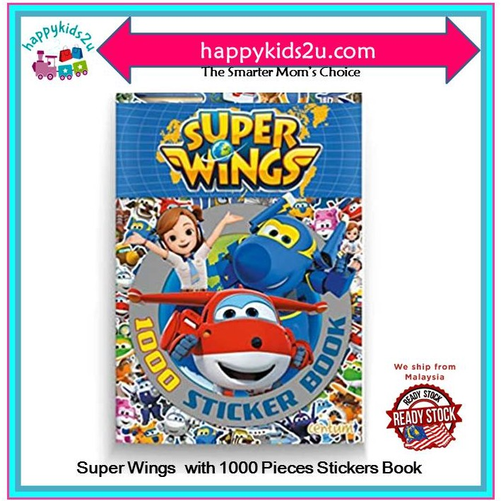Buku Stiker Super Wings l Kids with 1000 Pieces Stickers and Activity Book
