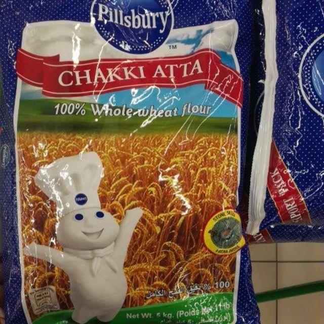 Pillsbury Chakki Atta 100% Whole Wheat Flour 5kg