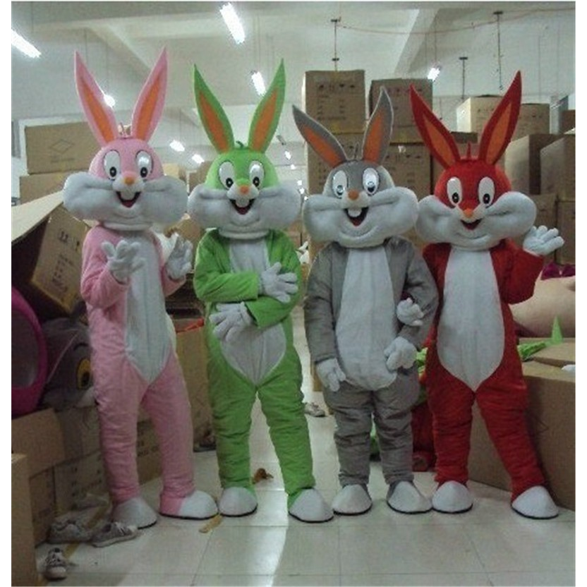 Easter Bugs Bunny Rabbit Adult Fancy Mascot Cartoon Cosplay Costume Party
